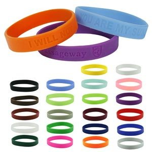 "Silicone Wristband -- 1/2"" Debossed"