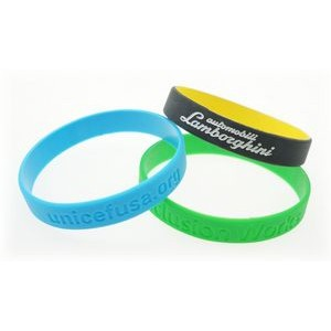 Silicone Wristband w/Debossed Logo