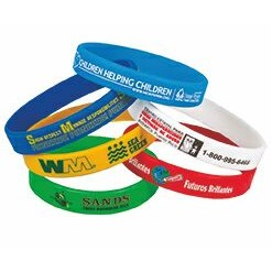 "1/2"" Screen Printed Silicone Awareness Bracelets (Priority)"